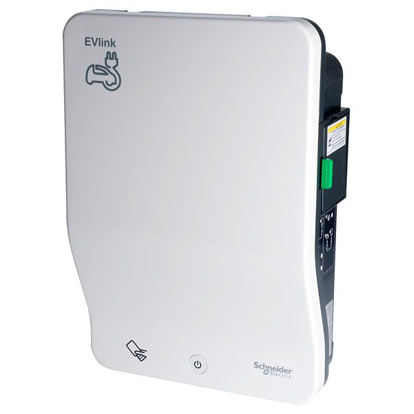 image of the Schneider Wallbox with Shutter Socket