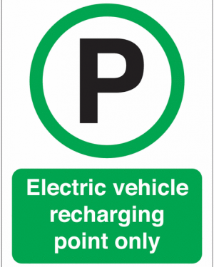 image of the Electric Vehicle Recharging Only Parking Symbol SignsElectric Vehicle Recharging Only Parking Symbol Signs
